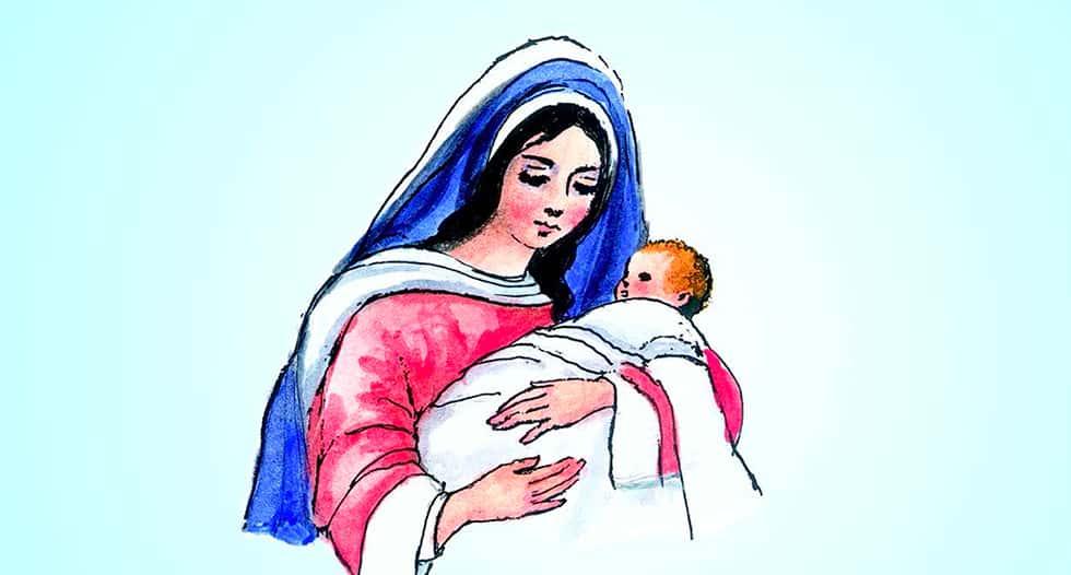 1 de enero | Santa María, Madre de Dios. (Blanco).